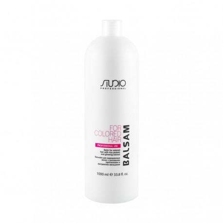 Бальзам для окрашенных волос с рисовыми протеинами и экстрактом женьшеня, Studio 1000мл.