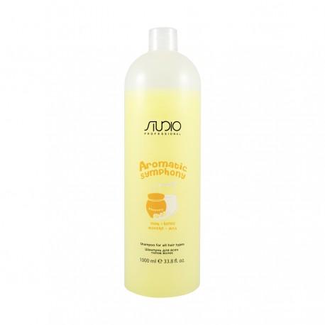 """Шампунь для Всех Типов Волос """"Молоко и Мед"""" для частого использования 1000 мл."""