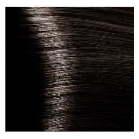 HY 4.07 Коричневый натуральный холодный, крем-краска для волос «Hyaluronic acid» 100 мл