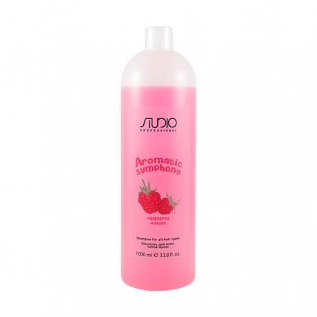 """Шампунь для Всех Типов Волос """"Малина"""" для частого использования 1000 мл."""