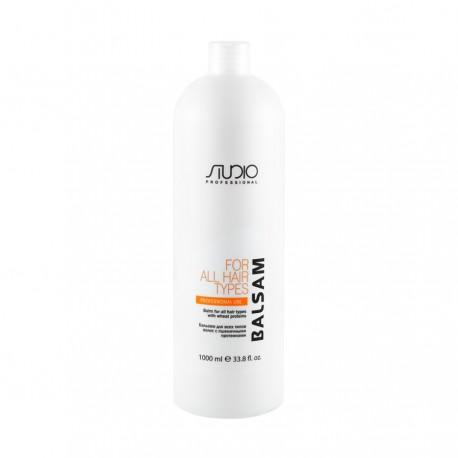 Бальзам для всех типов волос с пшеничными протеинами, Studio 1000мл.