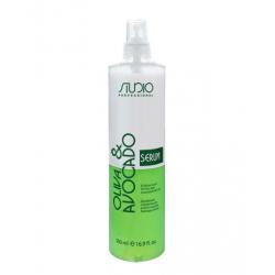 Двофазна сироватка для волосся з маслом Авокадо і Оливи, 500 мл