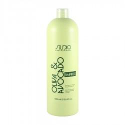 Studio Шампунь увлажняющий для волос с маслами Авокадо и Оливы, 1000мл.