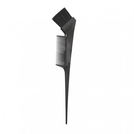 Кисть с расческой для окрашивания волос (черная)
